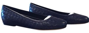 Bottega Veneta Navy Blue Flats