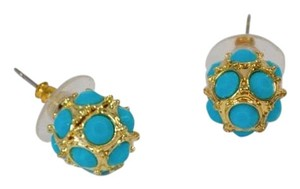 Other WOMEN'S GOLD PLATED TURQUOISE ROUND STUD EARRINGS ON SALE