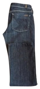 7 For All Mankind Stretchy Dark Wash Boot Cut Jeans-Dark Rinse