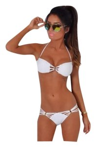 Other White Bikini W/ Gold Accents