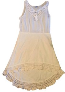Nally & Millie short dress white High-low Lace on Tradesy