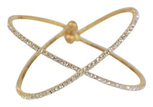 Other WOMEN'S GOLD PLATED CZ CUFF BRACELET ON SALE