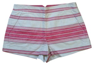 BCBGMAXAZRIA Striped Dress Shorts Red & Cream