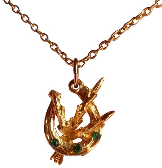 Preload https://item3.tradesy.com/images/horseshoe-and-wheat-wgreen-stones-necklace-152837-0-1.jpg?width=440&height=440