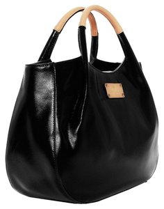 Kate Spade Leather Coated Canvas Satchel in Black