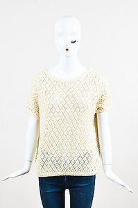 DKNY Woven Knit Sequin Sweater