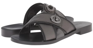 Coach Gun Metal Sandals