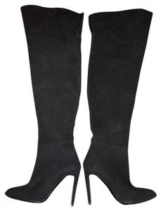 Ralph Lauren Collection Suede Black Boots