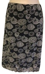 DKNY Mint Stretch Floral Pencil L Skirt