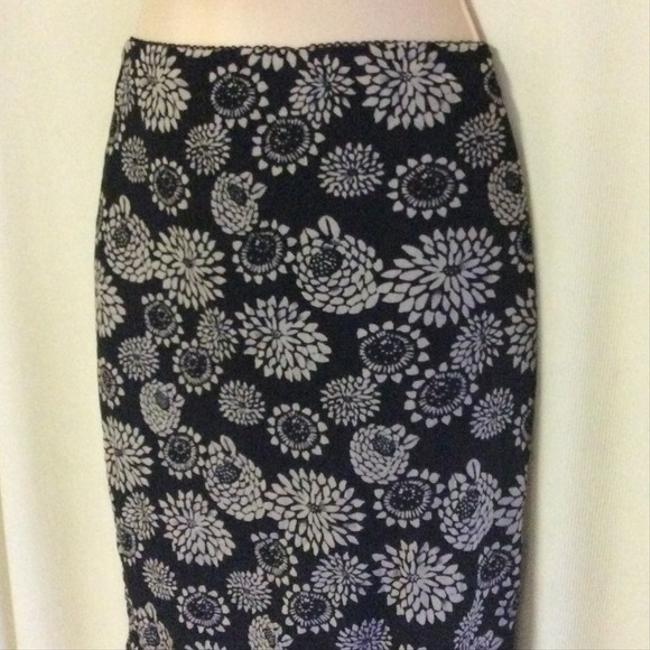 DKNY Mint Stretch Floral Pencil Skirt