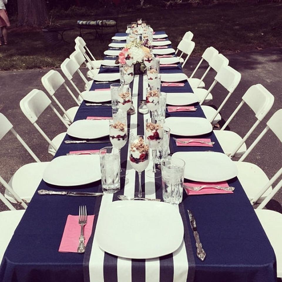 Navy And White 4 Table Runners Event Party Decor Banquet Tablecloth 57 Off Retail