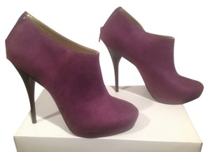 Michael Antonio Stacked Wood Stiletto Purple Boots