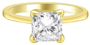 Avi and Co 2.04 ct Princess Cut Diamond Engagement Ring 14k Yellow Gold