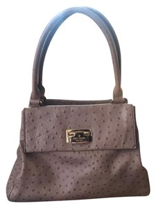 Kate Spade Ostrich Leather Satchel in gray