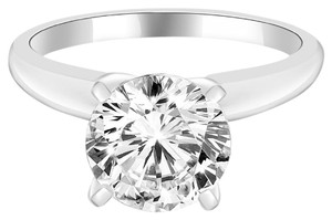 Avi and Co 2.02 ct F-G/VS-SI Round Diamond Solitaire Engagement Ring 14k White Gold