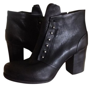 A.S. 98 Embossed Leather Black Boots