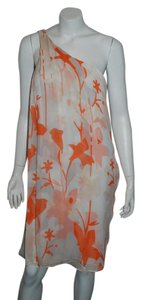 orange/white Maxi Dress by Diane von Furstenberg Yakira Lily Red Silk Chrome