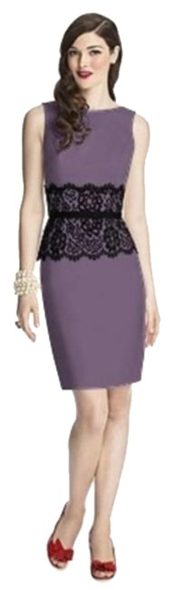 Item - Wisteria / Black 5706 Short Night Out Dress Size 6 (S)