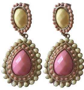 Other Pink and Yellow Dangling Earrings