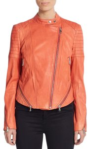 Andrew Marc New Cropped Leather Sun Leather Jacket