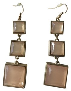 Other Women's Light Peach Square Dangling Earrings
