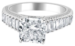 Avi and Co 4.16 cttw EGL Certified Radiant Cut Diamond Engagement Ring 18k White Gold