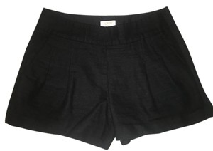 J.Crew Pleated Linen Shorts Black