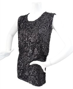 Young Fabulous & Broke Beaded Size Small Evening Top Black