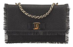 Salvatore Ferragamo Ginny Fabric Suede Shoulder Bag