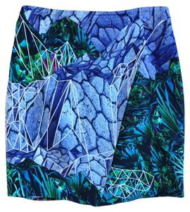 Dion Lee Floral Mini Skirt Blue