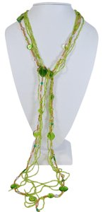 Other WOMEN'S FASHION FOWARD LONG GREEN BEADED NECKLACE ONE SIZE PN SALE