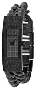 Michael Kors Michael Kors Hayden Black Crystal Pave Dial Black Ion-plated Ladies Watch 42mmx16mm MK3308