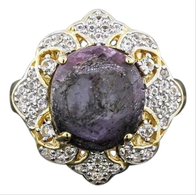 Purple Ruby And White Sapphire Vintage W/ Appraisal Size 8.5 Ring Purple Ruby And White Sapphire Vintage W/ Appraisal Size 8.5 Ring Image 1