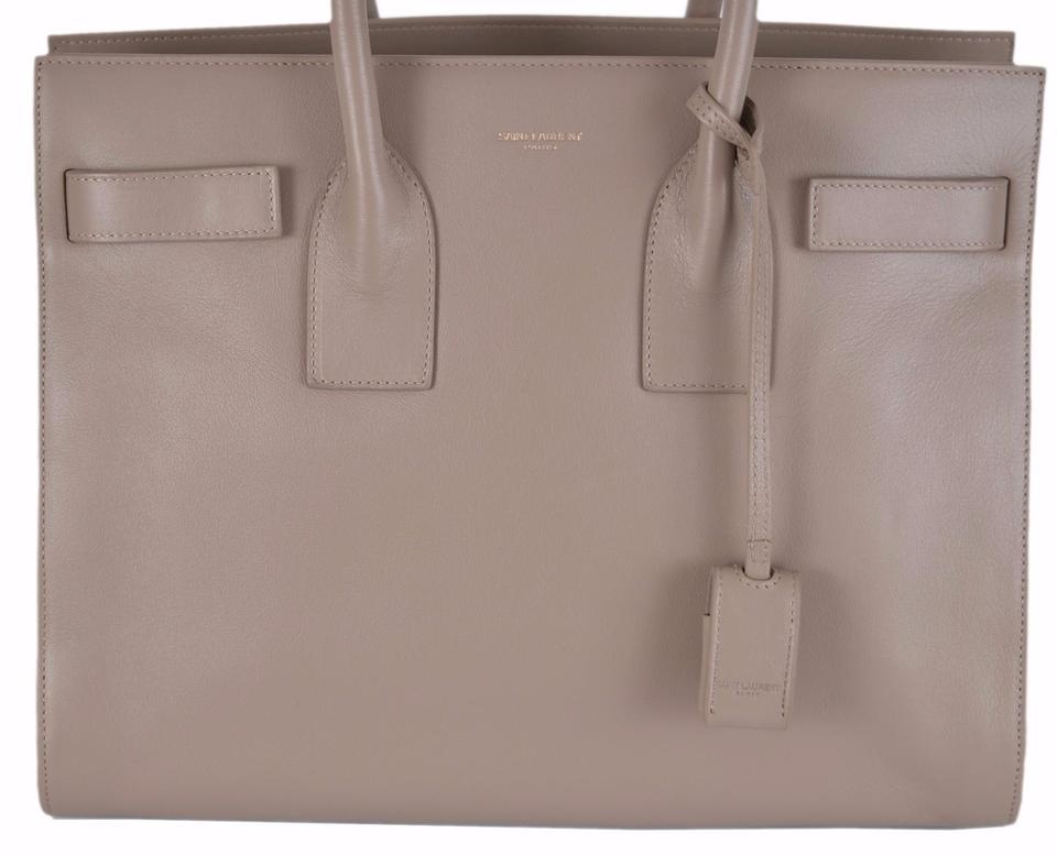 82dcd0152683 Saint Laurent Sac de Jour New Yves Ysl Small Handbag Purse W Strap Beige  Leather Shoulder Bag - Tradesy