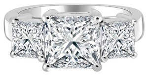 Avi and Co 5.33 cttw Princess Cut Diamond Three Stone Anniversary Ring 14K White Gold