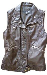 Black Rivet Leather Vest