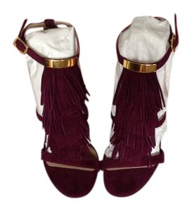 Chloé Fringed Suede Ultra violet Sandals
