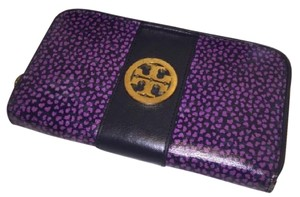Tory Burch Tory Burch Accordion Style Zip Wallet - Purple and Navy