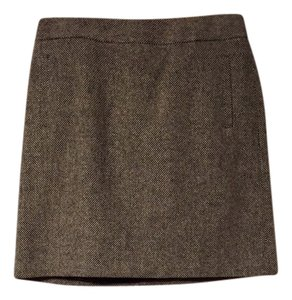 Banana Republic Skirt Black & White Tweed