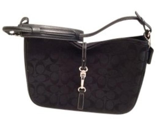 Preload https://item5.tradesy.com/images/coach-black-signature-jacquard-fabric-with-leather-trim-shoulder-bag-15289-0-0.jpg?width=440&height=440