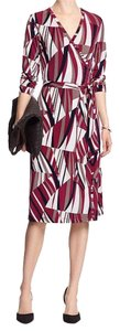 Banana Republic short dress Claret/black print on Tradesy
