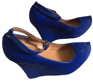 Ann Taylor Northern twilight/cobalt blue Wedges