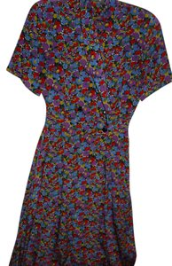 Liz Claiborne Bright Colorful Floral Long Dress