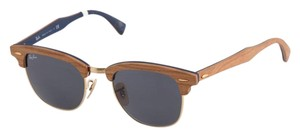 Ray-Ban Ray Ban Walnut Clubmaster Sunglasses RB 3016-M