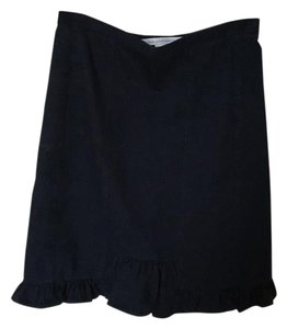 Diane von Furstenberg Ruffle Stretchy Skirt Dark Denim