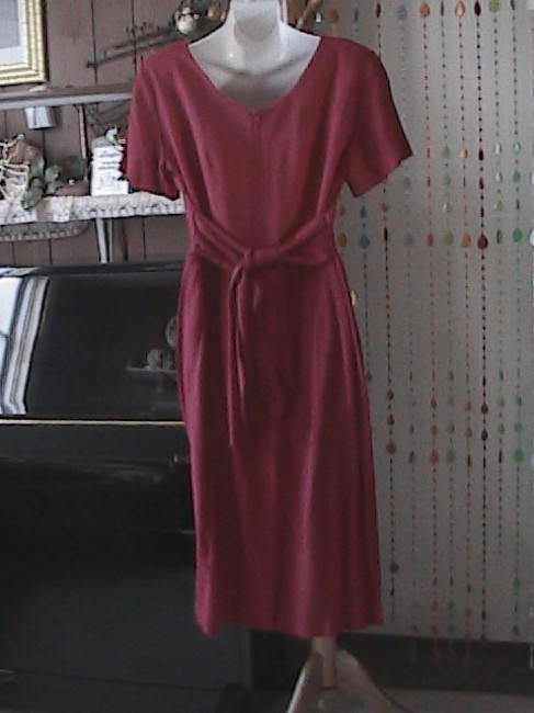 Red Maxi Dress by DJ & Co With Back Sash