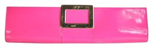 Roger Vivier Patent Leather Frame Hot Pink Clutch