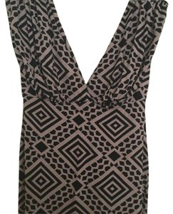 Rachel Pally Top Black/camel graphic print
