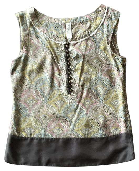 Item - Gray/ Pale Pastels For Anthropologie Sleeveless Blouse Size 2 (XS)