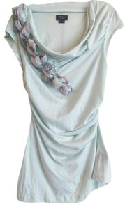 Anthropologie Craft & Creation Deletta Top Mint / Ribbon